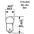 137 Lamp - 6.3V@0.25A, Bayonet Base