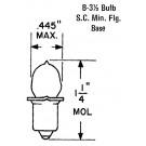 PR 6 Lamp - 2.5V@0.3A, Flange Base